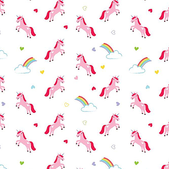 Once Upon a Time Unicorn White Flannel F7807
