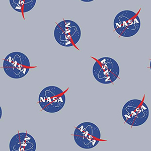 Out of this World with NASA Logo Toss Gray Flannel F8228