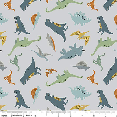 Fossil Rim 2 Tiny Dino Gray Flannel F9965