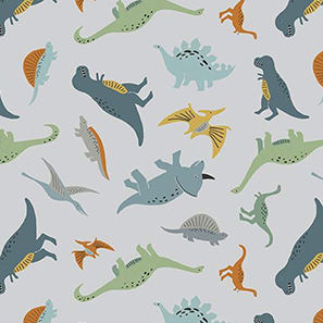 Fossil Rim 2 Tiny Dino Gray Flannel F9965