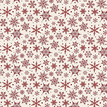 """Christmas Traditions Snowflake Cream Flannel - 30"""" Remnant"""