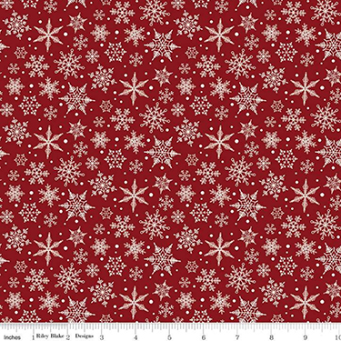 Christmas Traditions Snowflake Red Flannel F9971