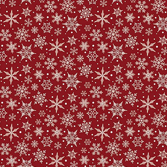 "Christmas Traditions Snowflake Red Flannel - 19"" Remnant"