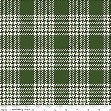 Yuletide Plaid Green Flannel F9973