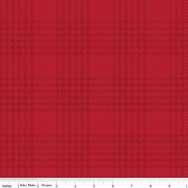Yuletide Plaid Red Tonal Flannel F9973