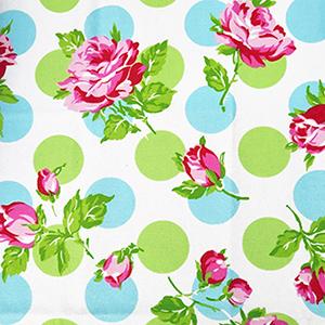 FQ Single - Sugar Hill Falling Roses Blue Flannel