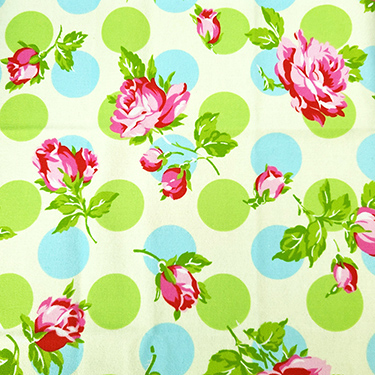 FQ Single - Sugar Hill Falling Roses Ivory Flannel by Valori Wells