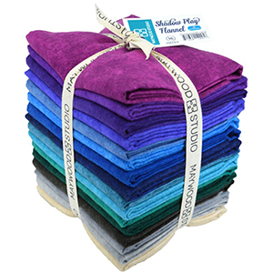 Fat Quarter Bundle - Shadow Play Oceanic Flannel by Maywood Studio