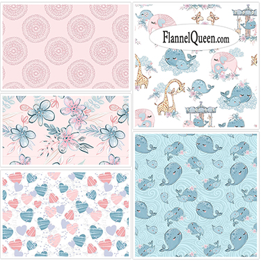 Fat Quarter Bundle - Mommy and Me Flannel Coordinates