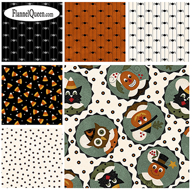 Fat Quarter Bundle - Happy Jacks Friends Flannel by Maywood Studio