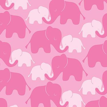 FQ Single - Imaginarium Elephant Pink Flannel