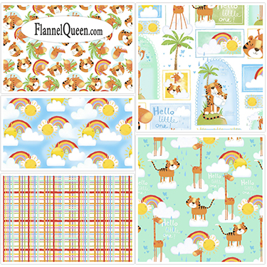 FQ Bundle - Welcome to the Jungle Flannel Coordinates