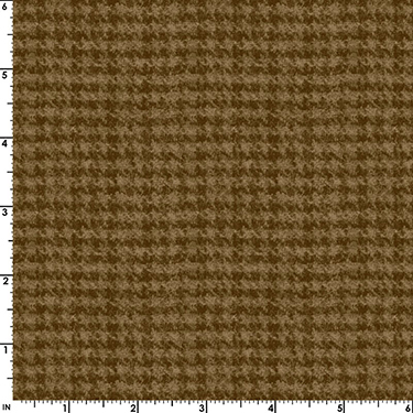 Classic Woolies Houndstooth Brown Flannel MASF18503-A2
