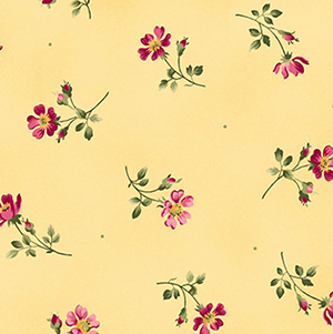 Wild Rose Toss Yellow Flannel MASF7881-S