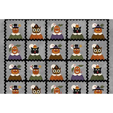 Happy Jacks Friends Squares Gray Flannel MASF9400-K