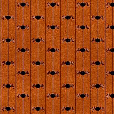 Happy Jacks Friends Spiders Orange Flannel MASF9403-O