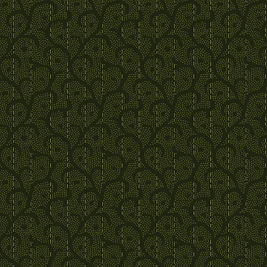 Heritage Woolies Stitched Scroll Green Flannel MASF9423-G