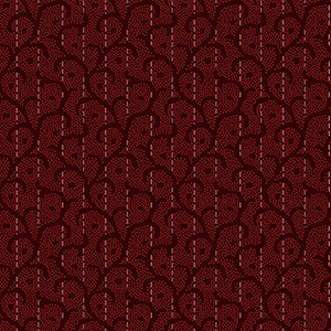 Heritage Woolies Stitched Scroll Red Flannel MASF9423-R