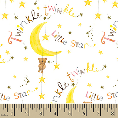 "Comfy Cutest Twinkle Little Star Flannel - 29"" Remnant"