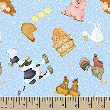 "Comfy Cutest Farm Animals Flannel - 13"" Remnant"