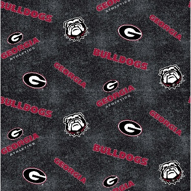 University of Georgia Bulldogs Distressed Logo Toss Flannel