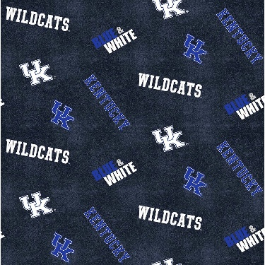 UK University of Kentucky Wildcats Distressed Logo Toss Flannel