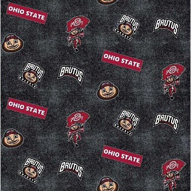 Ohio State University Buckeyes Distressed Logo Toss Flannel