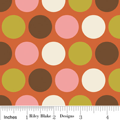 Indian Summer Big Dot Orange Flannel F2614