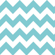 "Riley Blake Medium Chevron Aqua - 8"" Remnant"