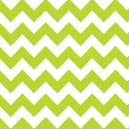FQ Single - Chevron Lime
