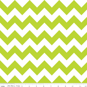 Riley Blake Flannel Basics Medium Chevron Lime Green