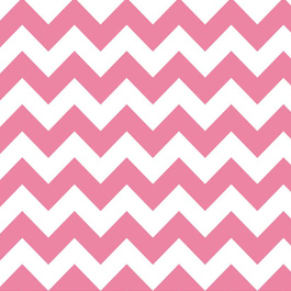 FQ Single - Chevron Med Pink