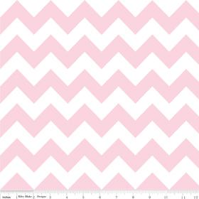 "Riley Blake Medium Chevron Baby Pink - 14"" Remnant"