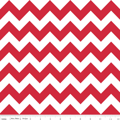 Riley Blake Medium Chevron Red