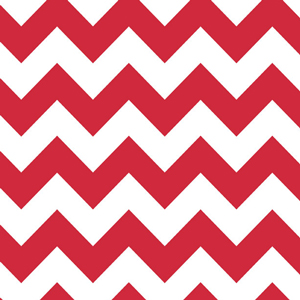 "Riley Blake Medium Chevron Red - 13"" Remnant"