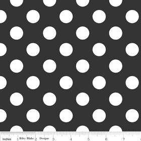 Riley Blake Medium Dots Black