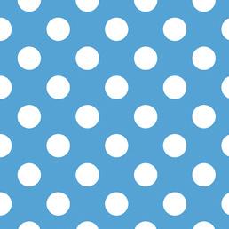 FQ Single - Medium Dot Blue