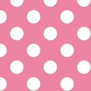 Riley Blake Flannel Basics Medium Dots Hot Pink