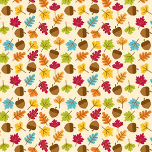 FQ Single - Happy Harvest Leaves