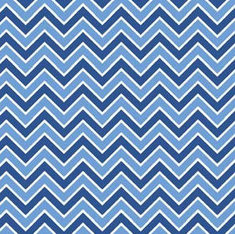 Alpine Basics Chevron Medium Blue Flannel F610-7