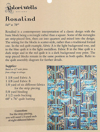 Pattern - Rosalind Quilt by Valorie Wells